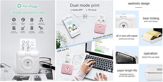 Portátil Mini Paperang Conexión Impresora/Bolsillo Profesional ...