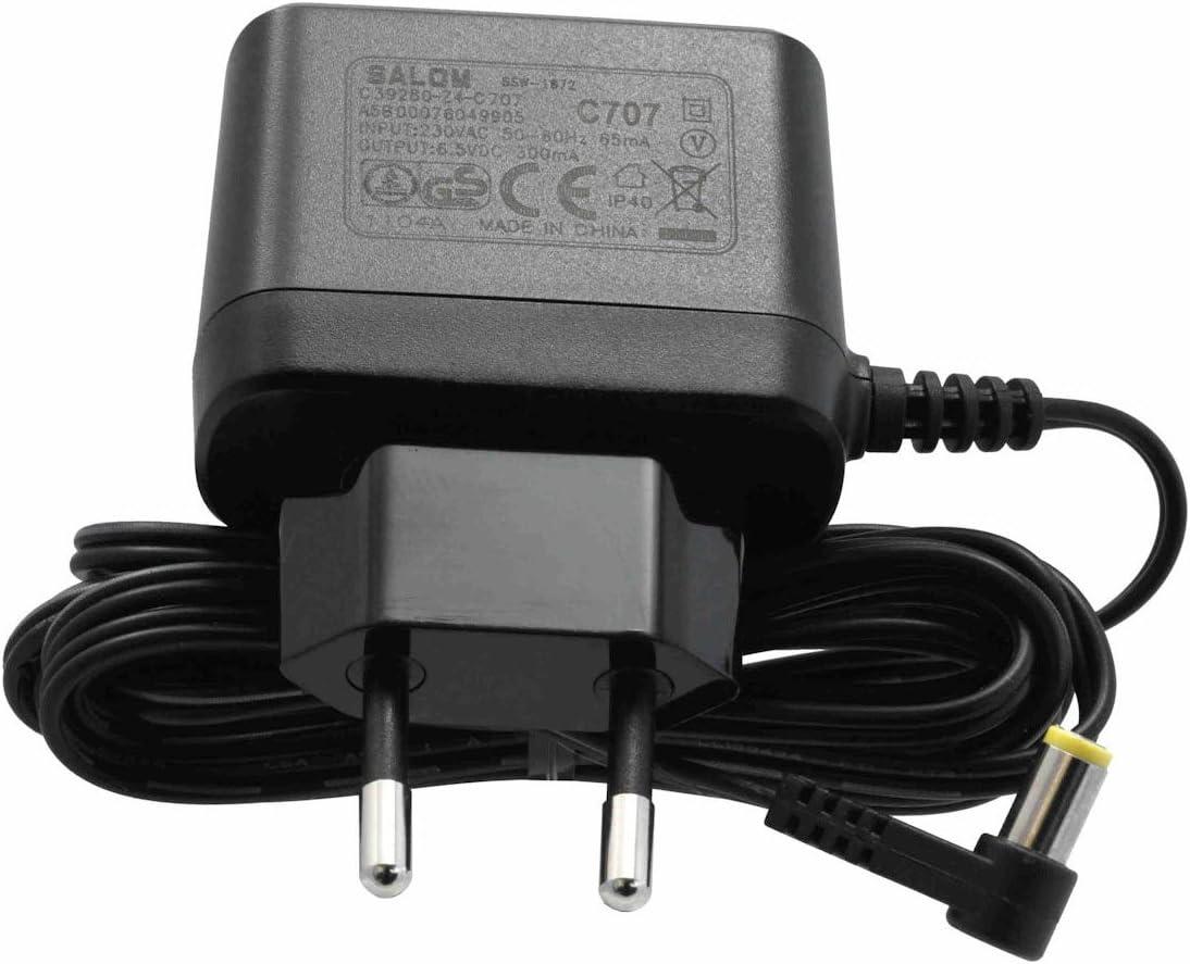 Gigaset C707 adaptador e inversor de corriente Negro - Fuente de alimentación (230 V, 50/60 Hz, 6.5 V, 300 mA, China, A160, C300, E300, S790, A220, C300A, E310, S795, A220A, C380, E310A, S810 2.0, A25