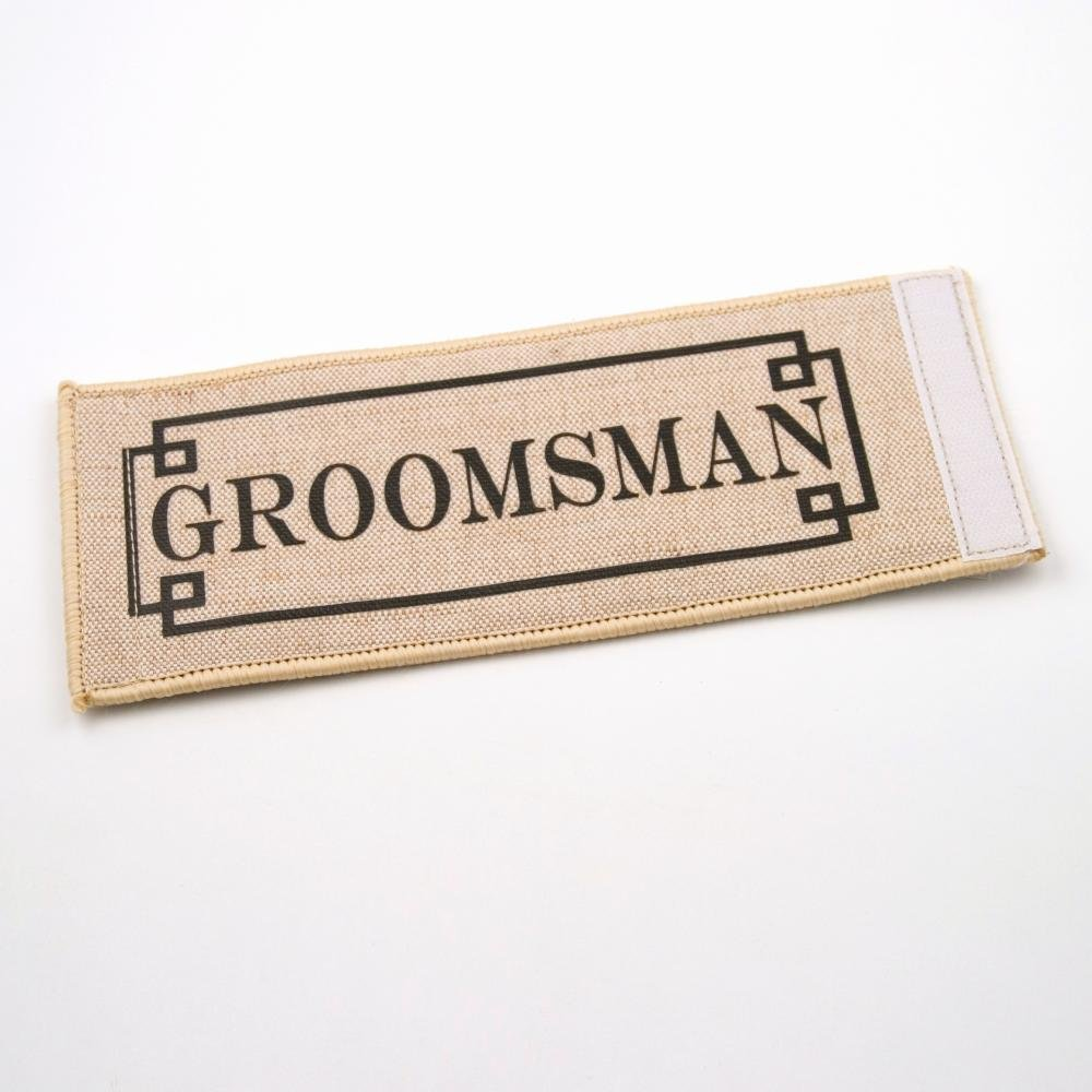 Amazon.com: Groomsman Jute Burlap Koozie Coolie Wedding Favor Set of ...
