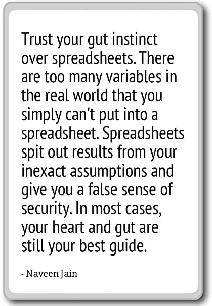 Amazoncom Trust Your Gut Instinct Over Spreadsheets Ther