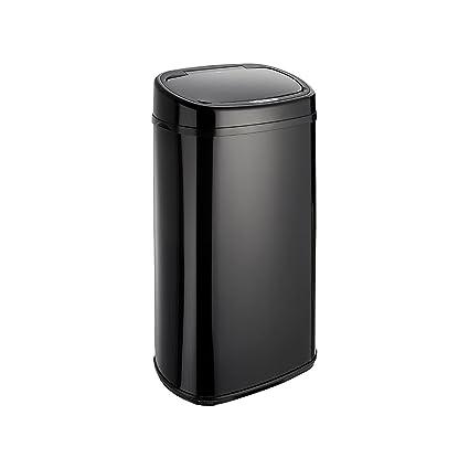 Dihl – Papelera con Sensor de Onyx 58L Negro Papelera