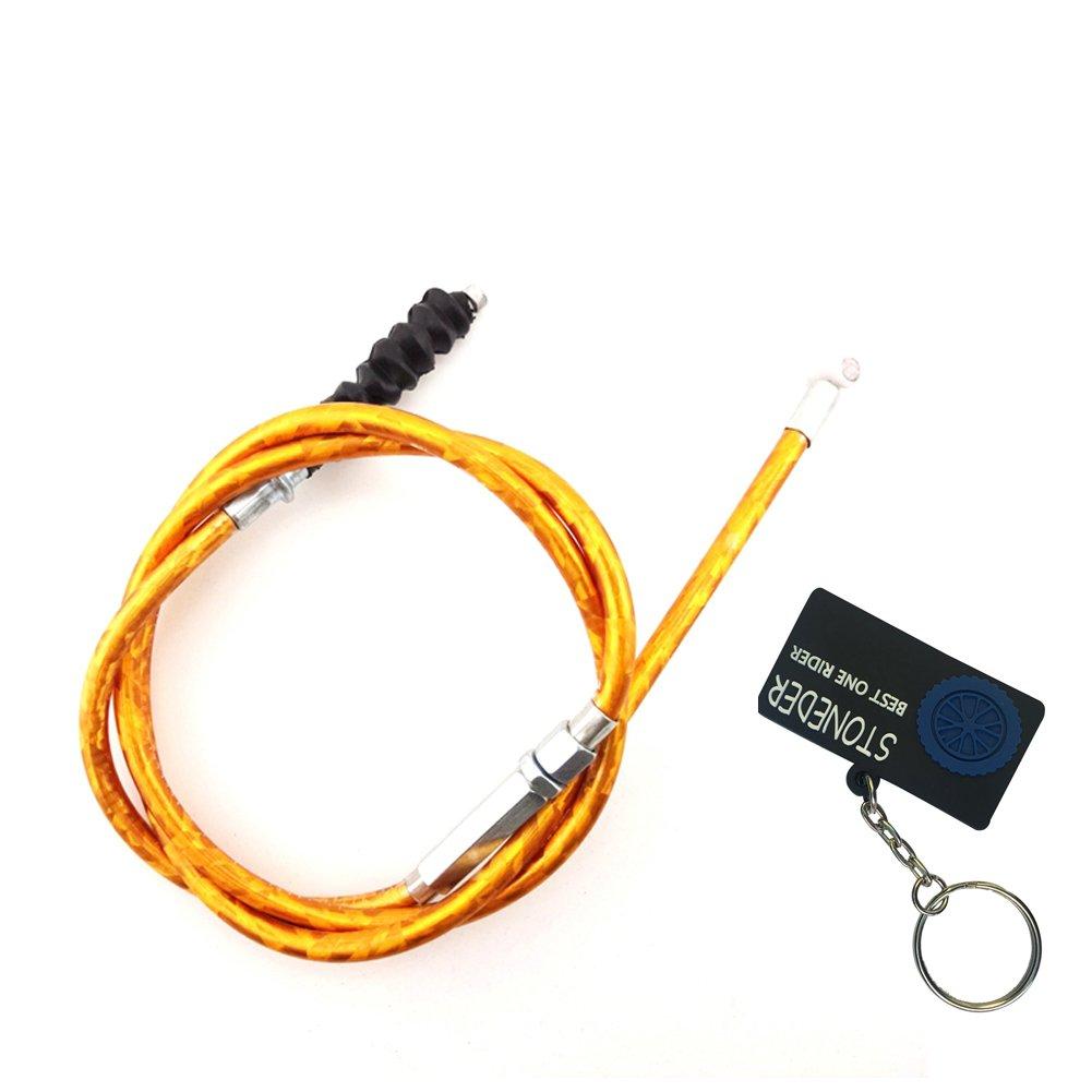 Stoneder 970mm doré câble d'embrayage pour moto Dirt Pit Bike 50cc 70cc 90cc 125cc 150cc 160cc SSR Thumpstar TTR Klx110Baja IMR Ycf Dhz