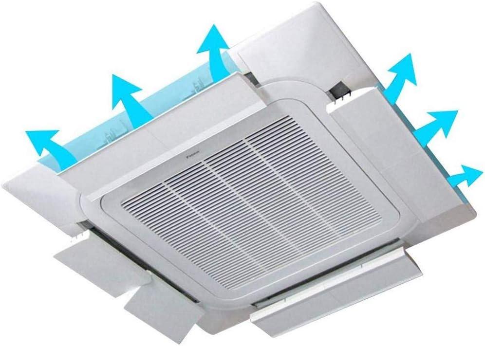 WMX Acondicionador De Aire del Deflector De Techo Ajuste De Aire Acondicionado Central-Anti-Condensación De Agua Multi-Ángulo, para El Dormitorio del Hogar De Estar Oficina De Habitaciones (4 Piezas): Amazon.es: Hogar