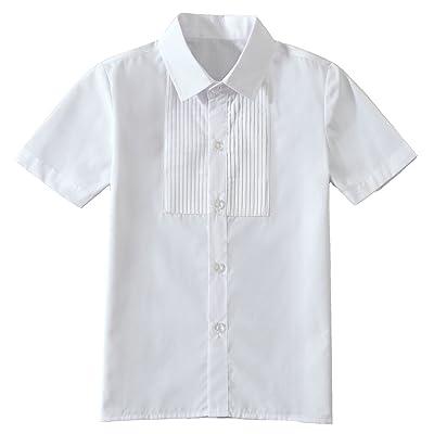 Yuanlu Boys Short Sleeve White Shirt