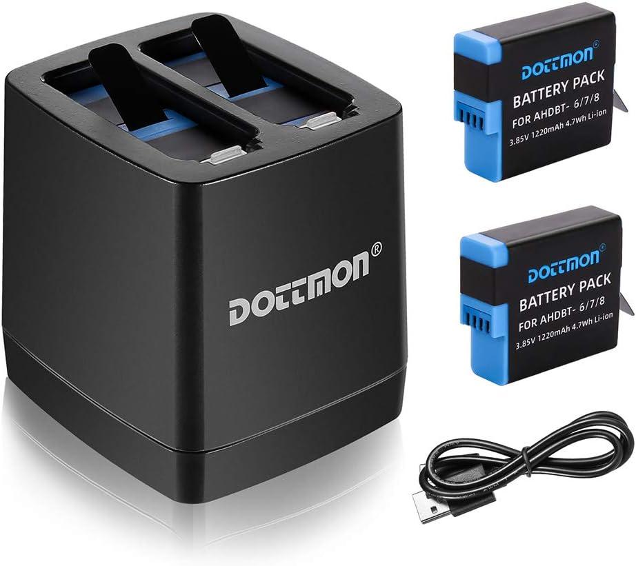 Baterías y cargador DOTTMON  para Hero 8/7/6 1220mAh