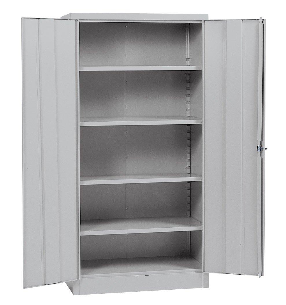 Sandusky Lee RTA7000-05 Dove Gray Steel SnapIt Storage Cabinet, 4 Adjustable Shelves, 72'' Height x 36'' Width x 18'' Depth by Sandusky
