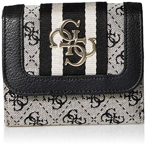 (GUESS Vintage Small Trifold Wallet, Black)