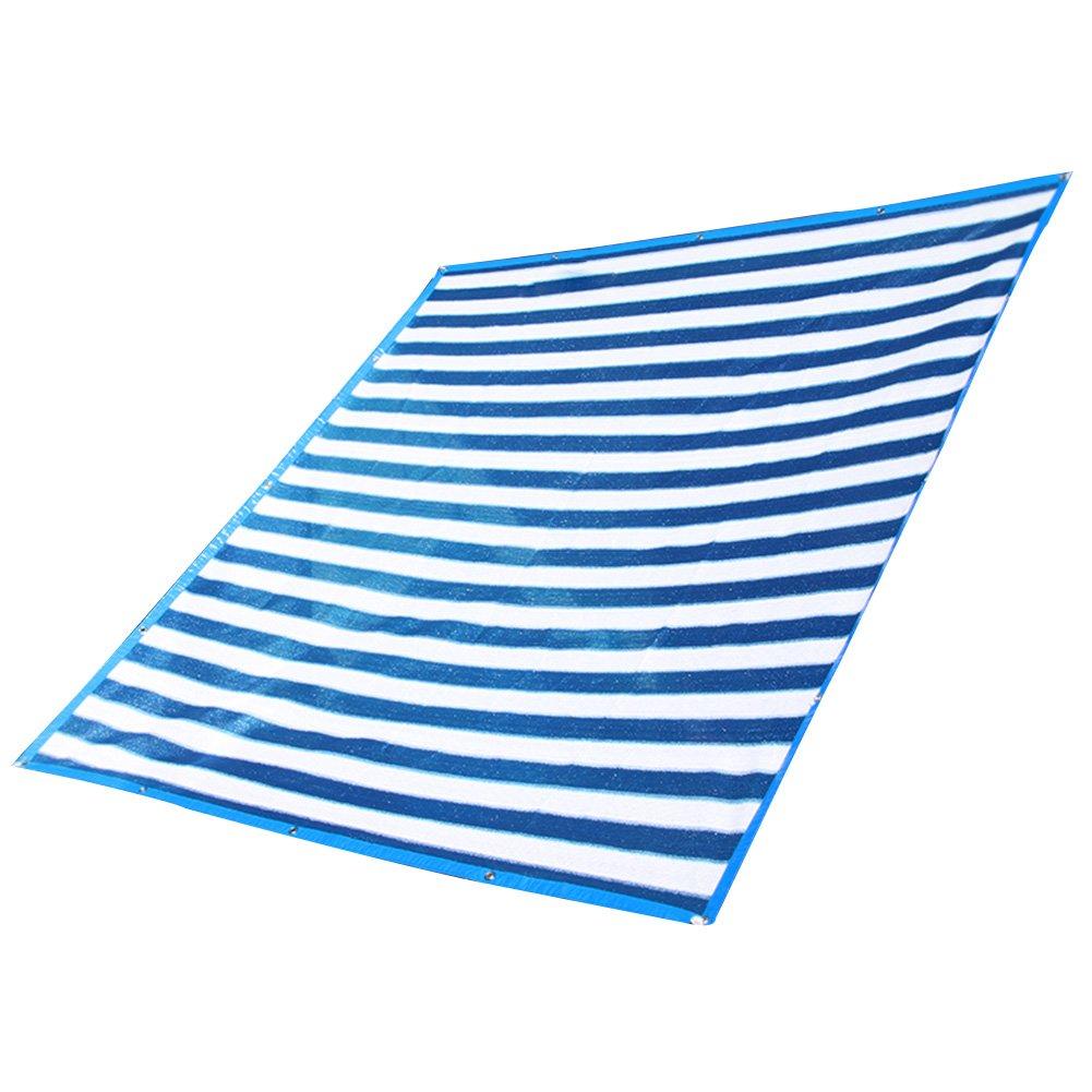 HAIPENG Schattierungsnetz Schatten Netting Verdicken Verschlüsselungsnetz Abdeckungen Sonnenschutznetz Windschutz Wärmeisolierung Schwerlast (Farbe   Blau+Weiß-4x5m)