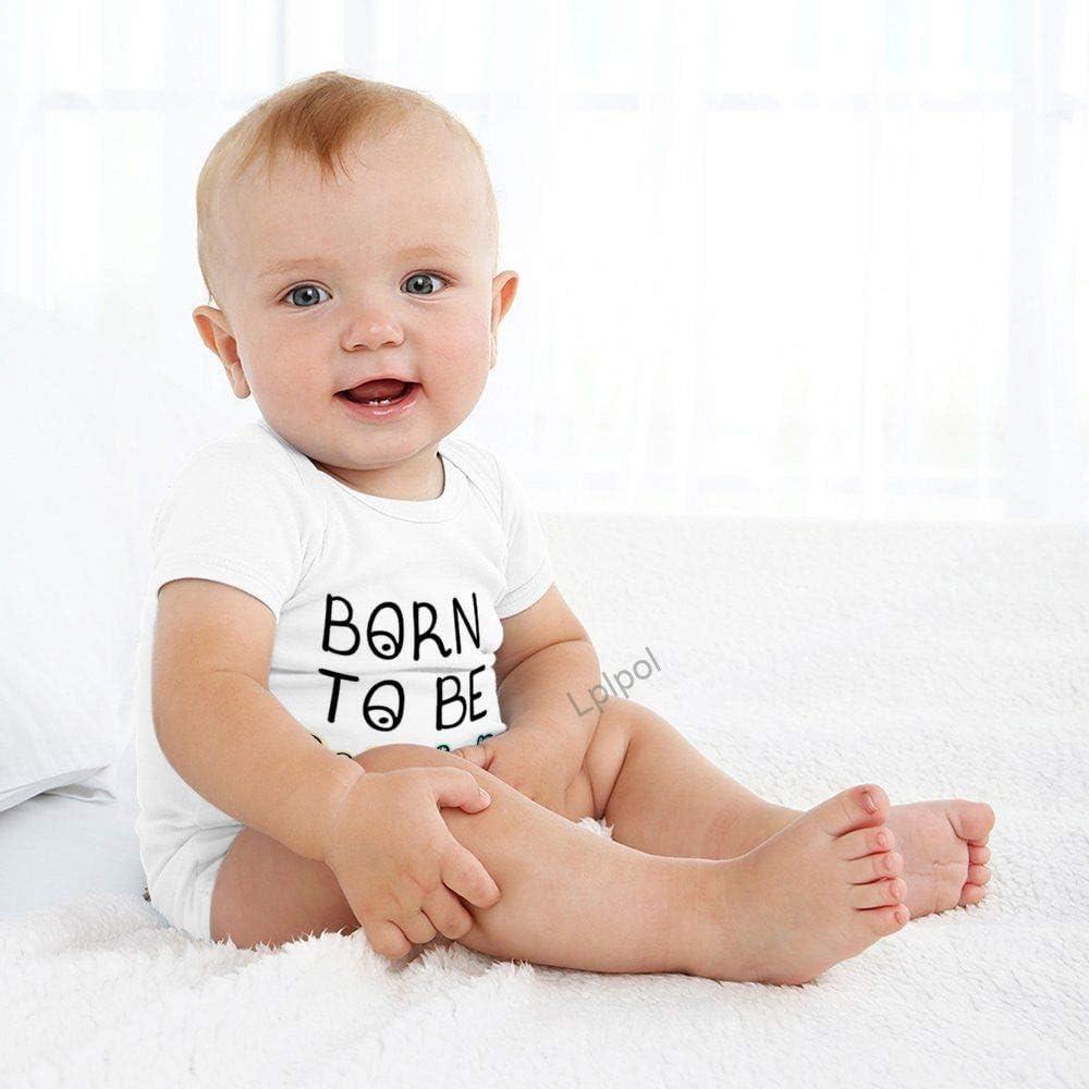 SDS739 Body de manga corta para beb/é unisex y ni/ñas Lplpol Born to Be Wild Fun