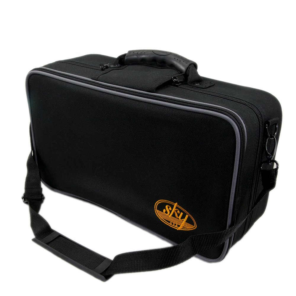 SKY Lightweight Case for Bb Clarinet with Shoulder Strap, Backpackable, Black