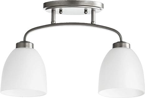 Amazon.com: quórum Reyes 2 lámpara de techo Semi-Flush Mount ...