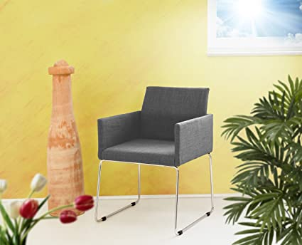 Mila poltrona tessuto grigio melange sedia da conferenza sedia per