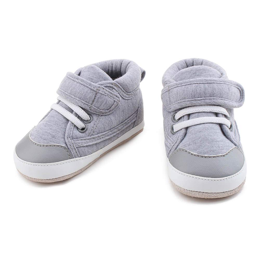 OOSAKU Toddler Sneaker Baby Infant Shoes Boy Girl First Walking Leather Sole Shoes