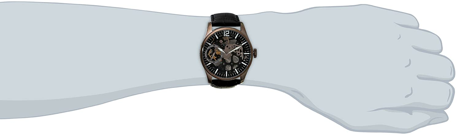Invicta Men's 12406 Vintage-Inspired Black Watch with Textured Band: Invicta