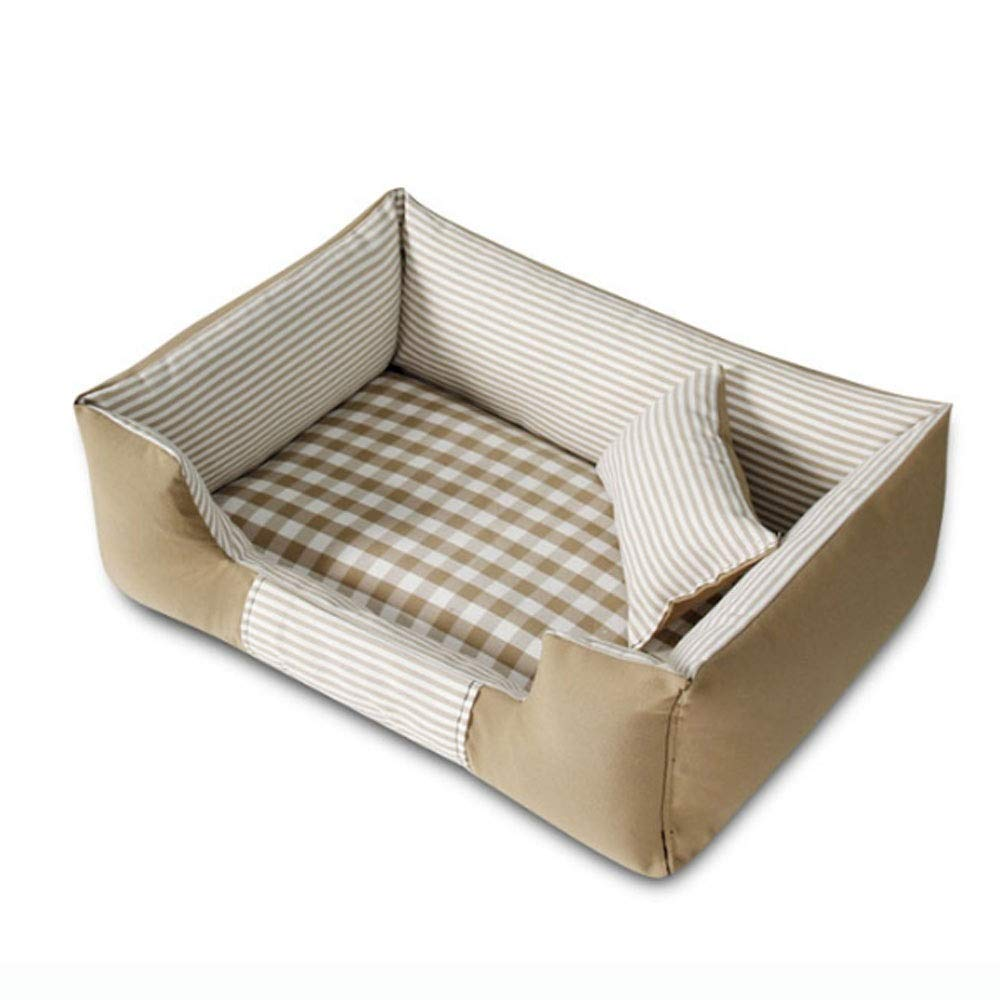 Beige L Beige L Four Seasons Bite Small and Medium Dog Kennel Pet Bed Small Animal Beds (color   Beige, Size   L)