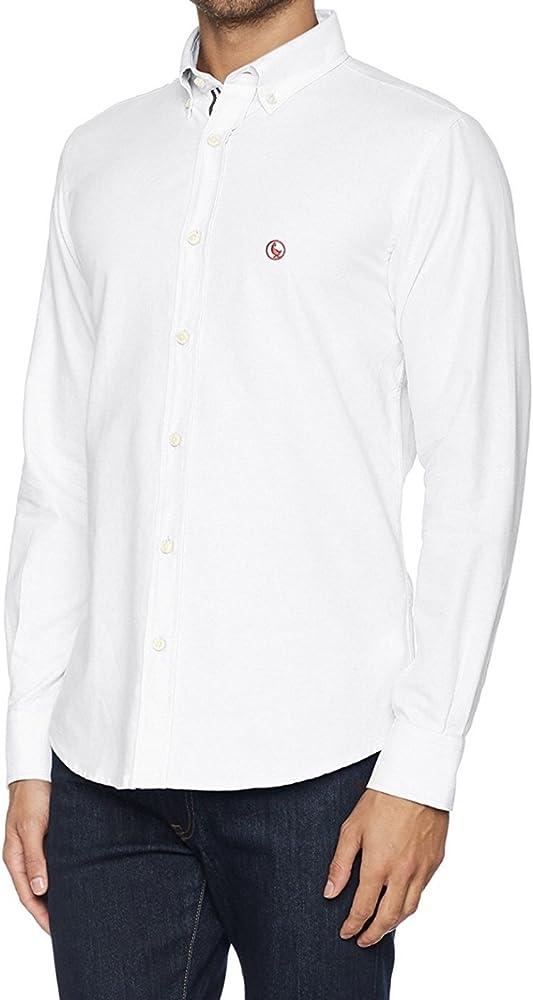 El Ganso 1050W170005 Camisa Casual, Blanco, 37 para Hombre: Amazon ...