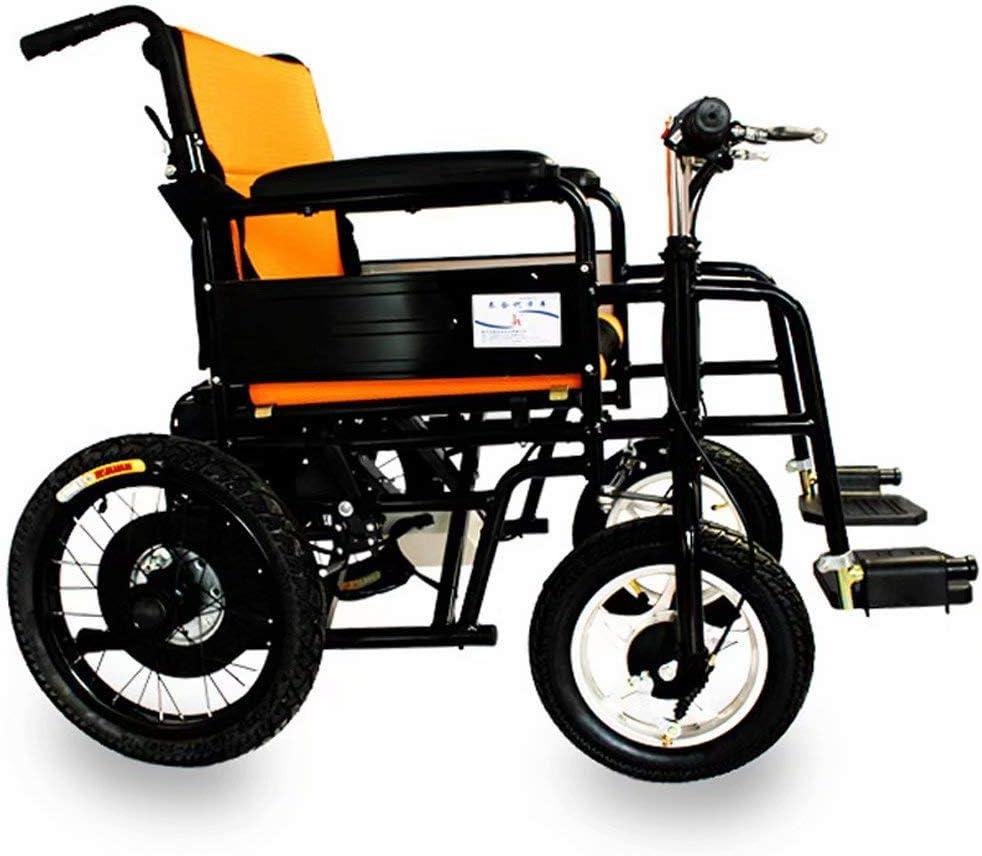 Silla de Ruedas para Ancianos Eléctrico Plegable Ligero, Manija de Operación Inteligente Similar a una Bicicleta, Cinturón de Seguridad + Rueda Antivuelco, Se Puede Ajustar el Mango del Motor 250W /: Amazon.es: