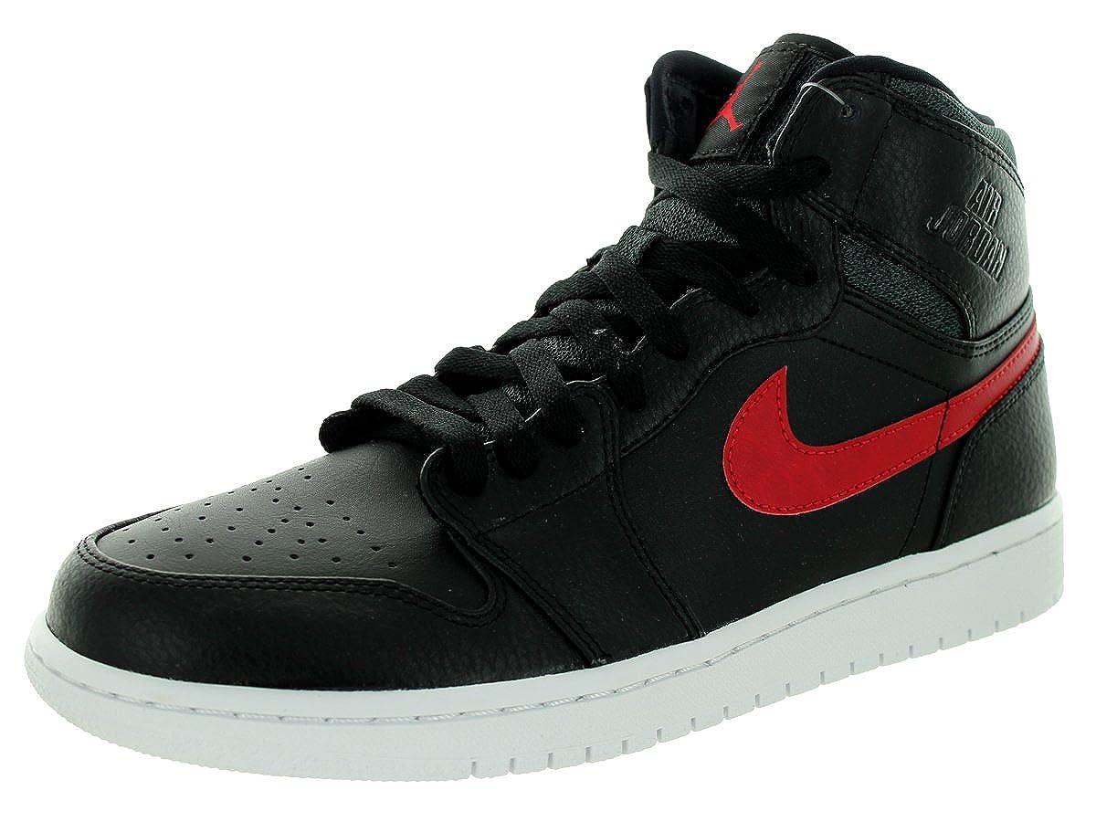 Noir, Gym rouge, Blk, Wht Jordan Nike Men's Air 1 Retro High Basketball chaussures 45.5 EU