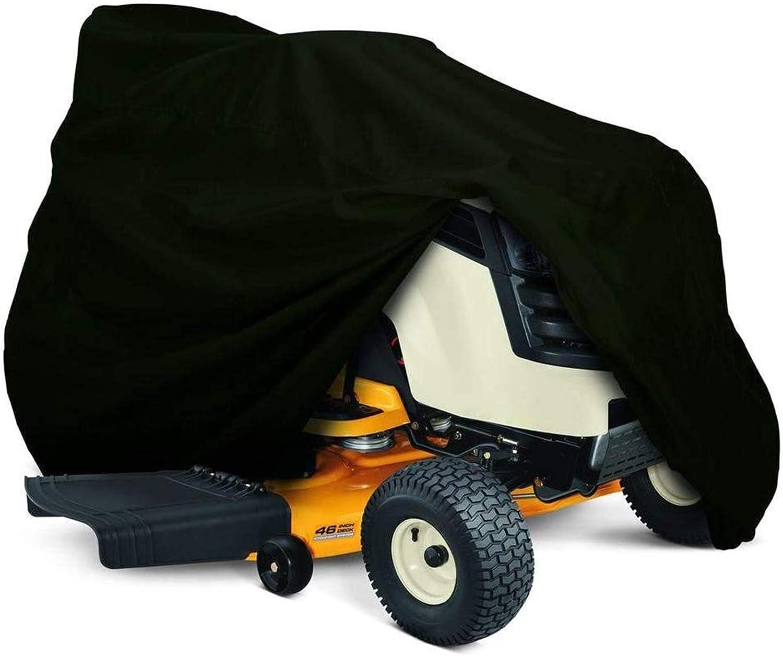 Cubierta para Tractor cortacésped para Montar, Cubierta de Almacenamiento de poliéster Oxford 210D, protección UV Impermeable al Aire Libre (Color : L)