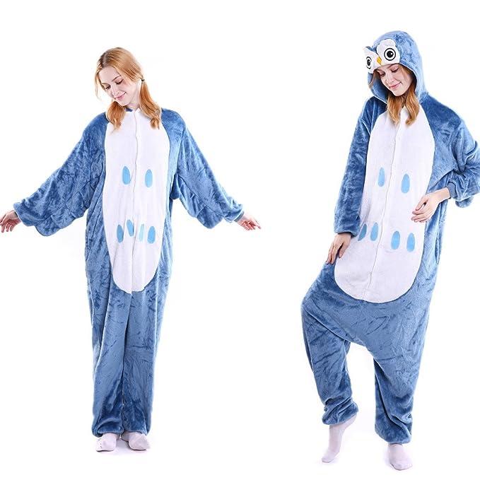 MYQyiyi Pijamas de Pareja Hombre y Mujer Mono de Forma de Animales (L, A