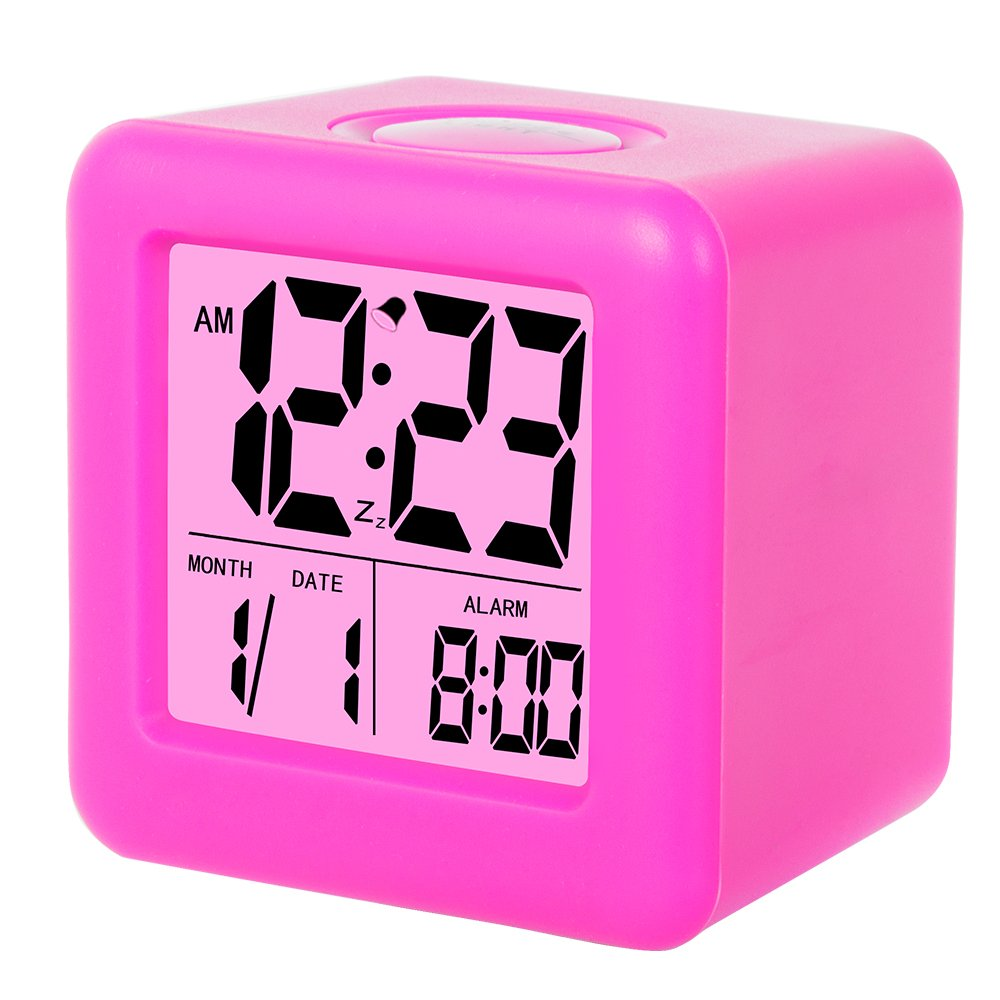 Alarm Clock Skynature Digital Soft Cube Snooze Light Spy Jet Escape 8638 For Students Kids Teens