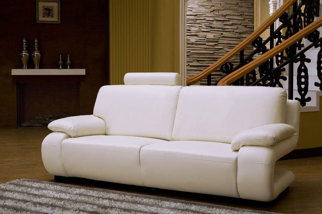 Designerledersofa Leder-Sofa-3 Sitzer Designercouch Dreisitzer neu 5172-3-W