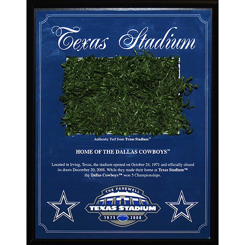 Steiner Sports Dallas Cowboys Texas Stadium 1971-2008 Game Used Turf Plaque ()