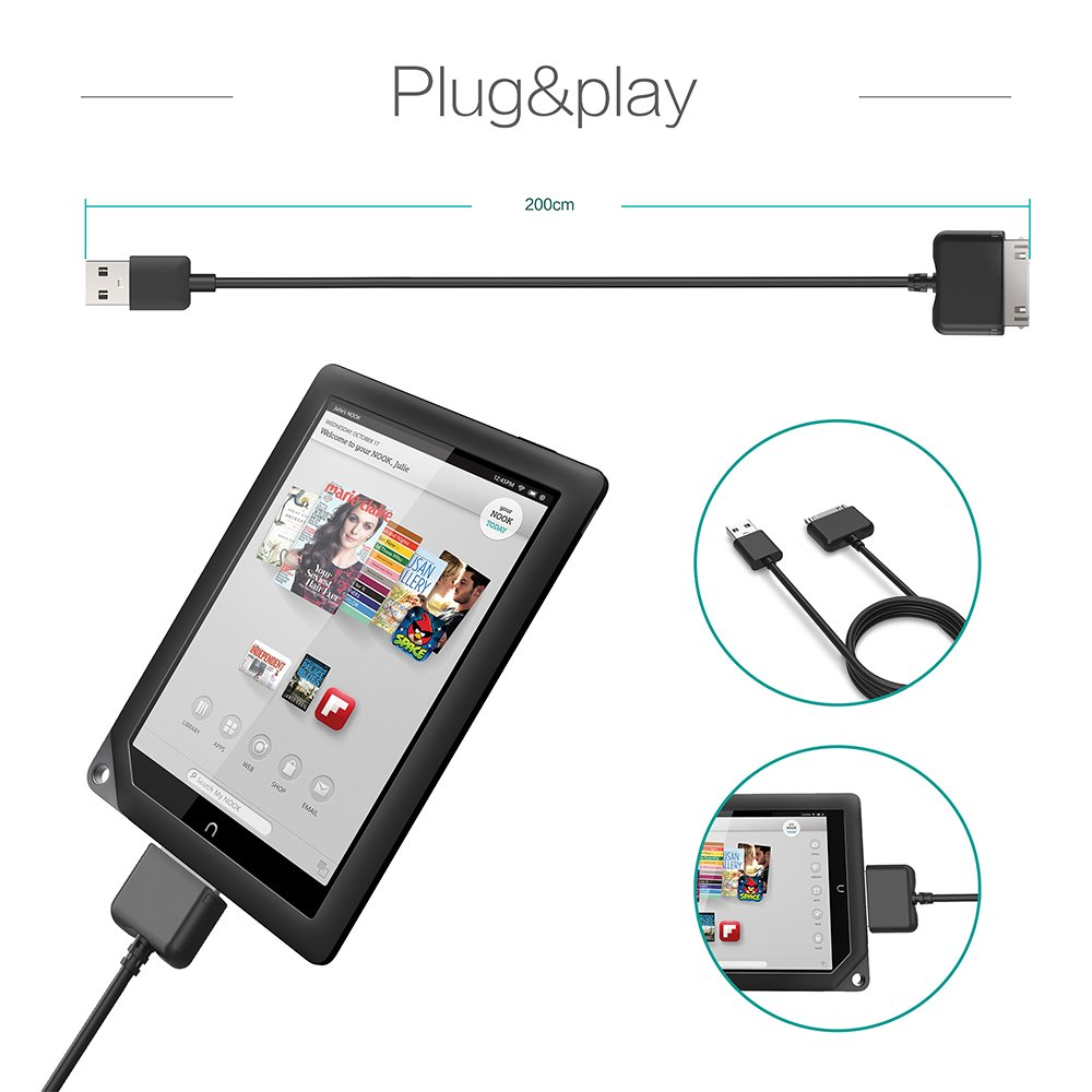amazon com barnes noble charging cable for nook hd and hd extra rh amazon com Car Stereo Color Wiring Diagram Automotive Wiring Diagrams