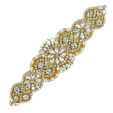 de Cristal para Boda Faja Cinturón Correa de diamantes de imitación Hermoso De Diamantes De Imitación Novia Sash