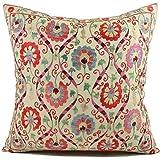 Uzbek Suzani Pillow | i 20x20 Hand Embroidered Pillow Cover