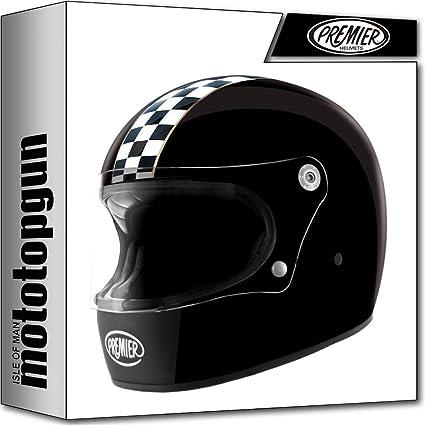Amazon.es: MOTOTOPGUN Casco Premier Moto integral Trophy CK BLACK L