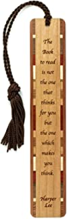 product image for Harper Lee The Book to Read Quote Engraved Wooden Bookmark with Tassel - Search B0727NPR4L for Personalized Version