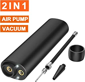 AUGYMER Electric Air Bike Pump, Portable 5000mah Quick-Fill Portable Automatic Vacuum Pump for Storage Bags Bicycle Pump Perfect Inflator Deflator Pumps for Basketball Outdoor Camping Balloon