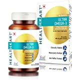 Healthkart Ultra Omega, enriched with 1250 mg (fish oil) with 425mg EPA & 325mg DHA & Vitamin E, No heavy metals, no fishy after taste, higher absorption & bioavailability, 90 softgels
