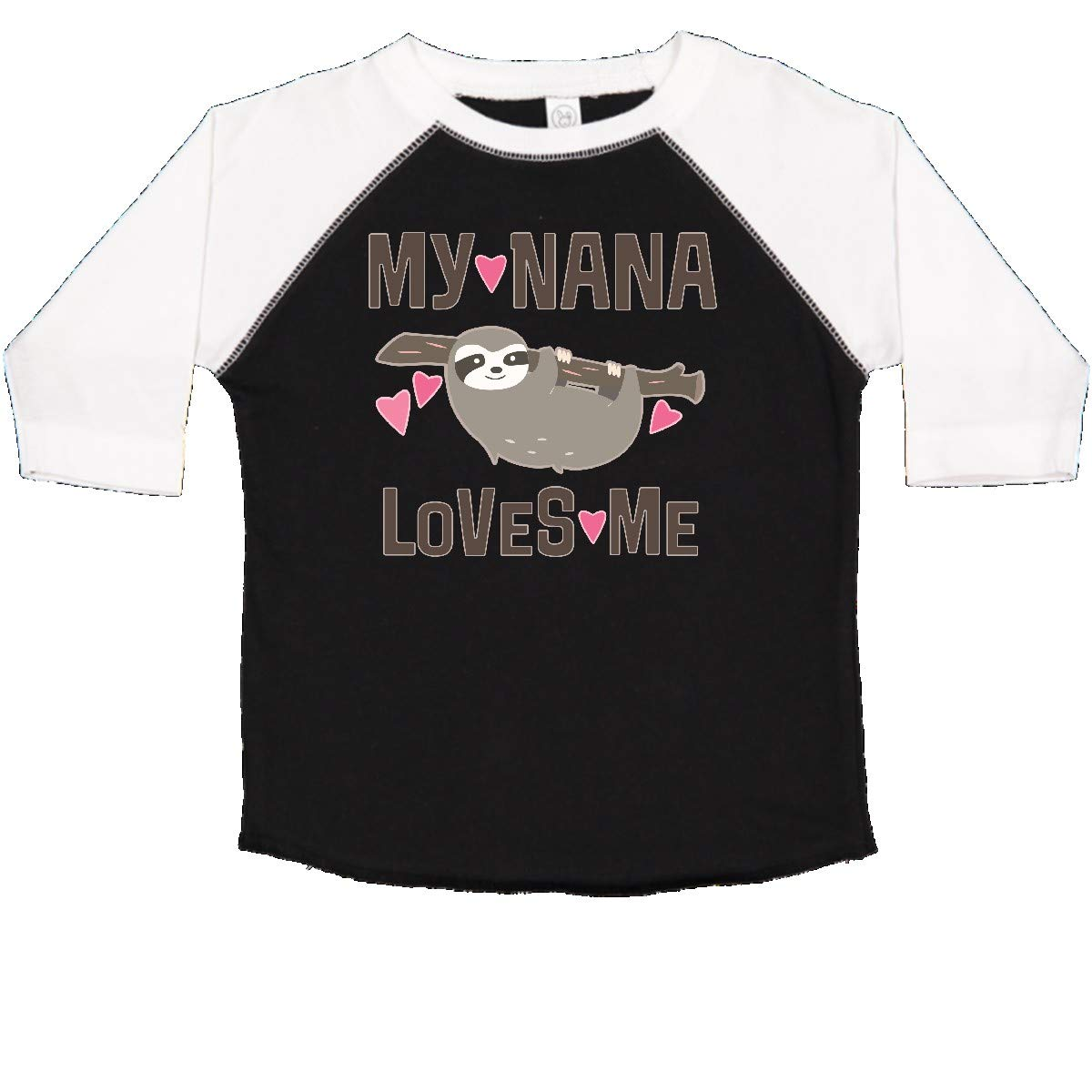 inktastic My Nana Loves Me Sloth Toddler T-Shirt