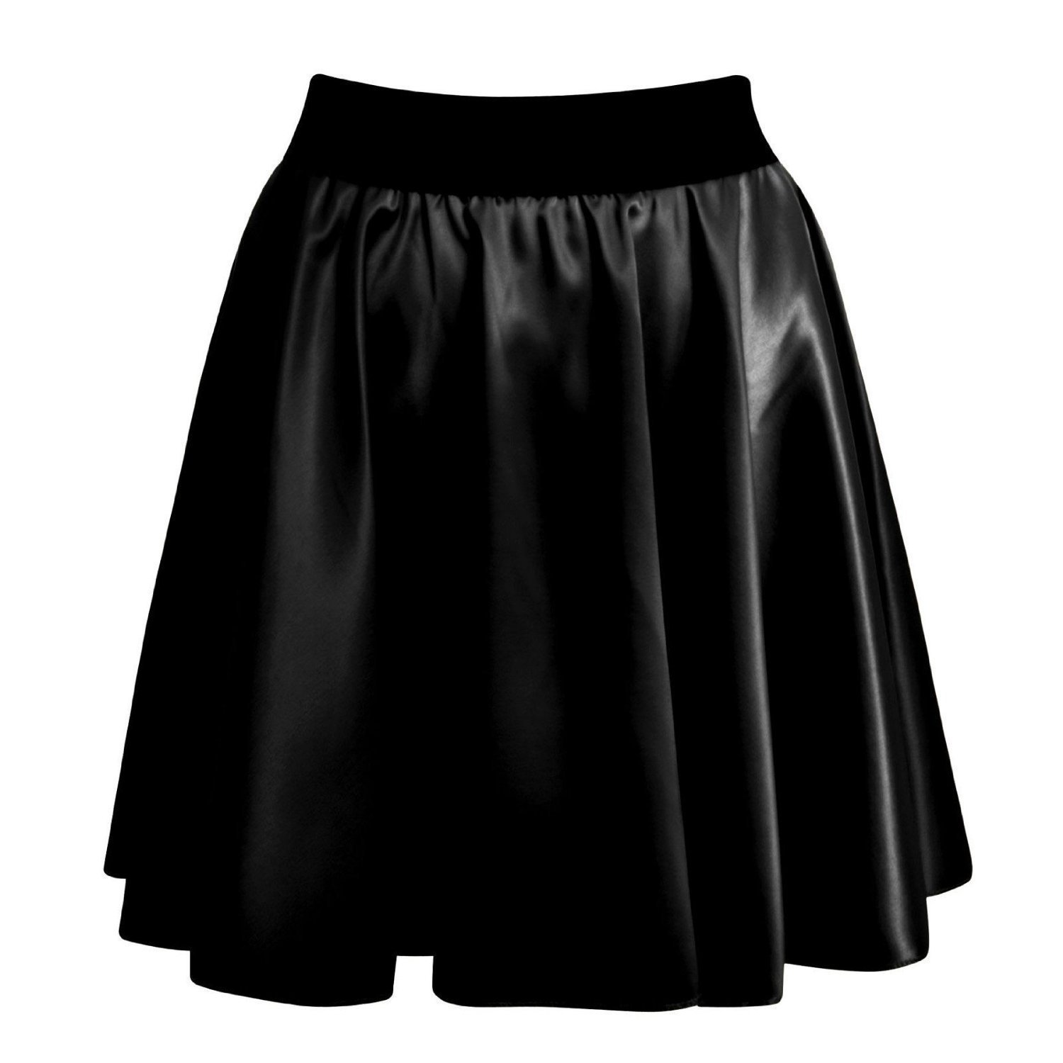 Forever Womens Wetlook Faux Leather Bodycon/Flared Skirts