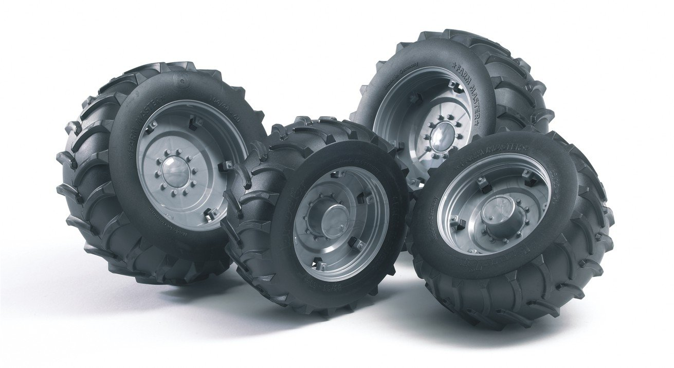 Bruder 02001 - Juego de Ruedas para Tractor Pro: Amazon.es: Juguetes y juegos