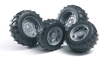 Bruder 02001 - Juego de ruedas para Tractor Pro