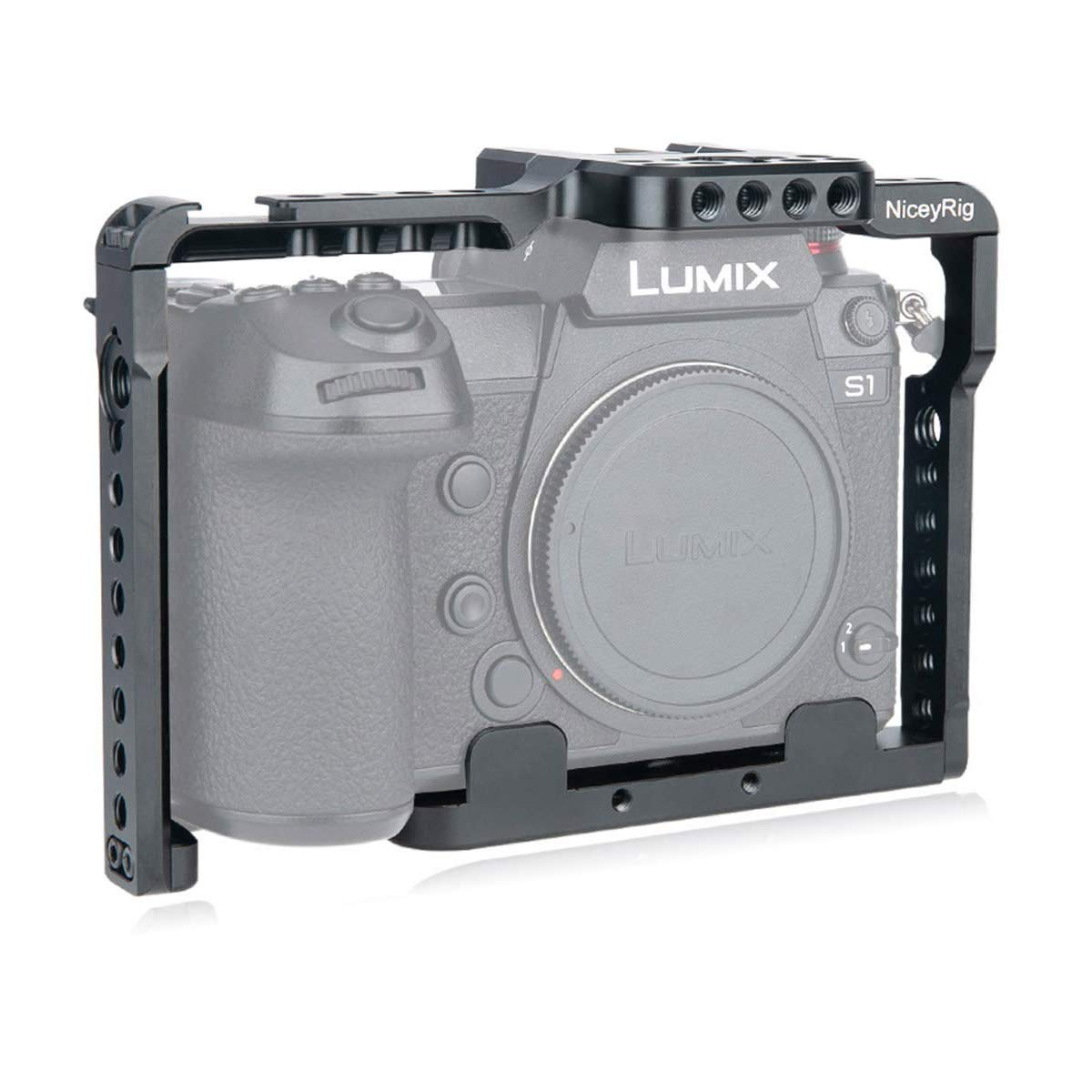 NICEYRIG S1 S1r Panasonic Lumix Camera Cage, Quick Release with NATO Rails & ARRI Locating Holes- 316 by NICEYRIG