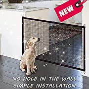 ZFITEI Magic Gate Portable Folding Safe Guard Install Anywhere (Baby safety fence,Pet safety Enclosure) -Long:47.2,Width27.5,Magic Gate As Seen On TV