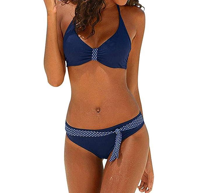 7cf162a08c3e6a OIKAY Bikini Push up kleine brüste Damen Neckholder Bikini Set Sexy Halter Push  Up Zweiteiliger Bikinis