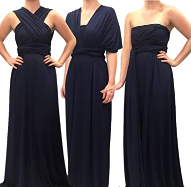 9513b6ab23a7 Image Unavailable. Image not available for. Color: 4Now Fashions Long Navy  Infinity Dress ...