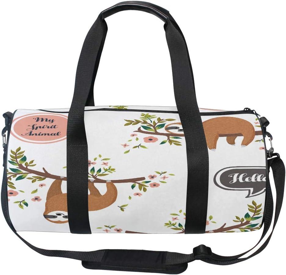Travel Luggage Duffle Bag Lightweight Portable Handbag Cartoon Sloths Print Large Capacity Waterproof Foldable Storage Tote