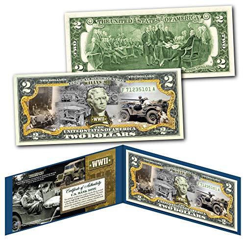 Wwii Willys Jeep - WILLYS MB FORD GPW JEEP Military Truck WWII World War II Genuine U.S. $2 Bill