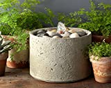 Campania International FT-166-NA M-Series Pebble Fountain, Natural Finish
