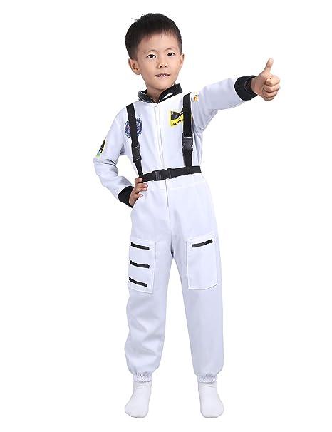Amazon Com Feeshow Children Boys Astronaut Costume Kids Spaceman