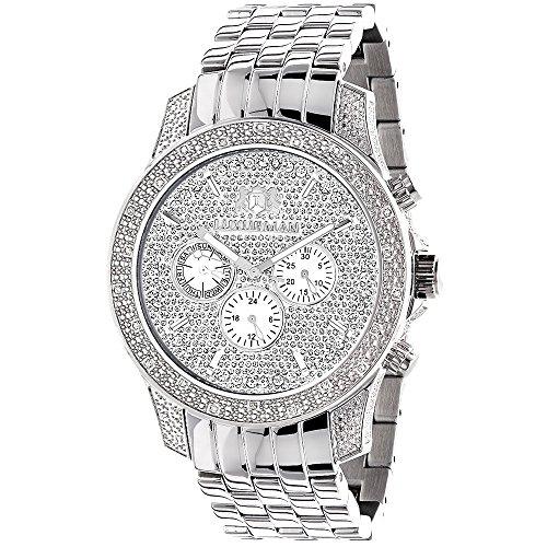 Mens Designer Diamond Watch 0.50ctw of Diamonds by Luxurman