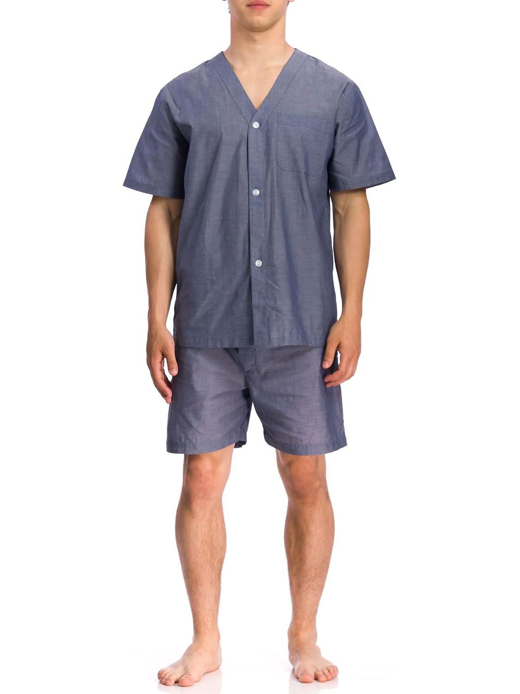 Geoffrey Beene Men's Short Sleeve Knee Length Solid Pajama Set Assorted Small