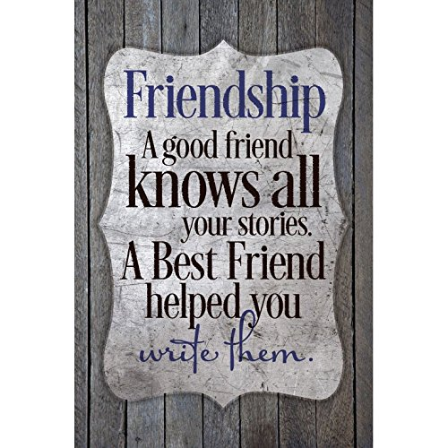 Friendship Wall Plaque - Dexsa Friendship-A Good Friend Knows.New Horizons Wood Plaque