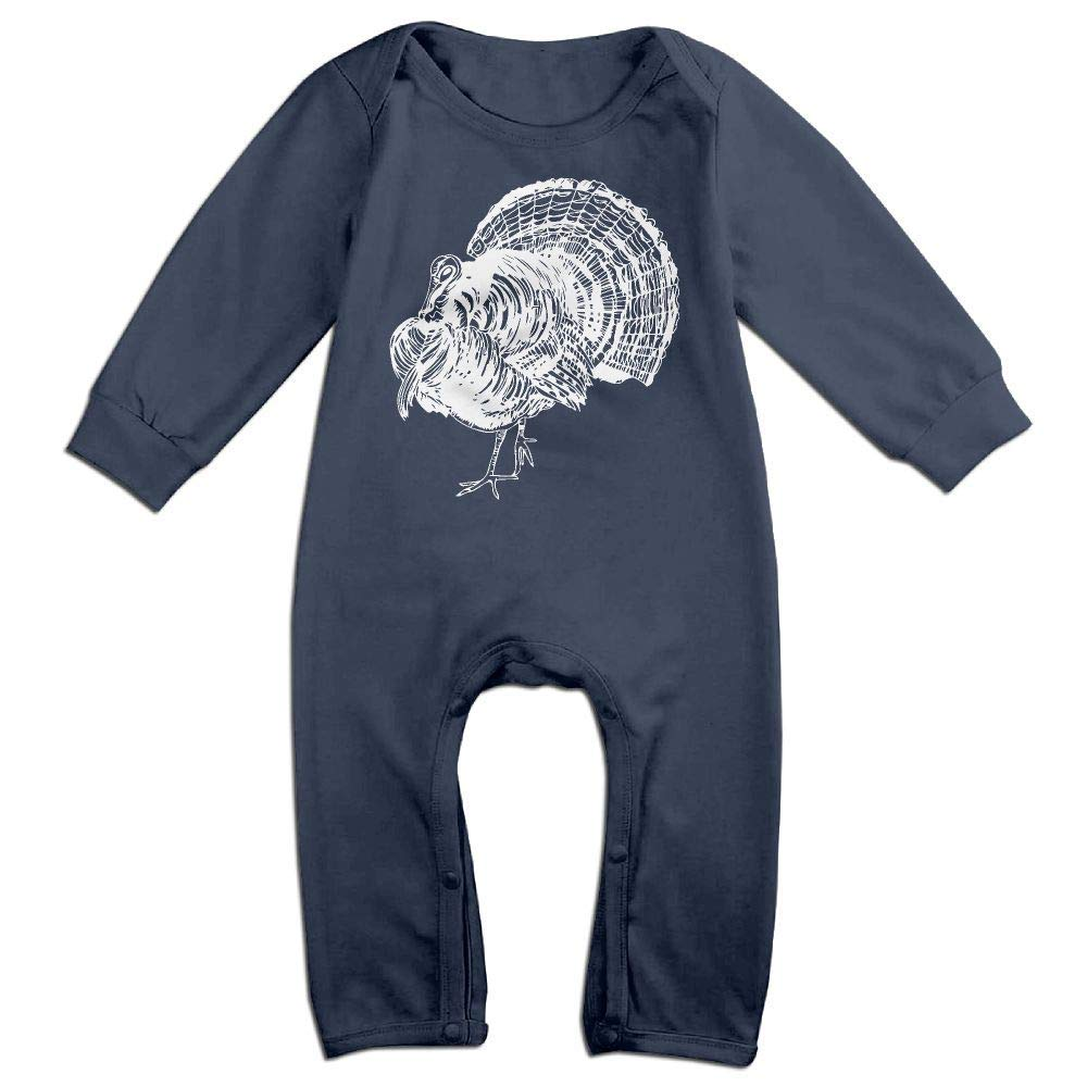 TYLER DEAN Newborn Baby Coverall Turkey Thanksgiving White Rooster Baby Rompers